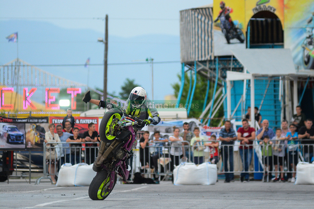 LARISA, May 19, 2018  A motorcyclist competes during the 12th motor festival in Larisa, Greece, May 18, 2018. (Credit Image: © Apostolos Domalis/Xinhua via ZUMA Wire)