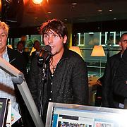 NLD/Hilversum/20110126 - Interview 3 J's tijdens Tros Gouden Uren, Jaap Buys, Jan Dulles, Aloys Buys in de studio bij Daniel Dekker