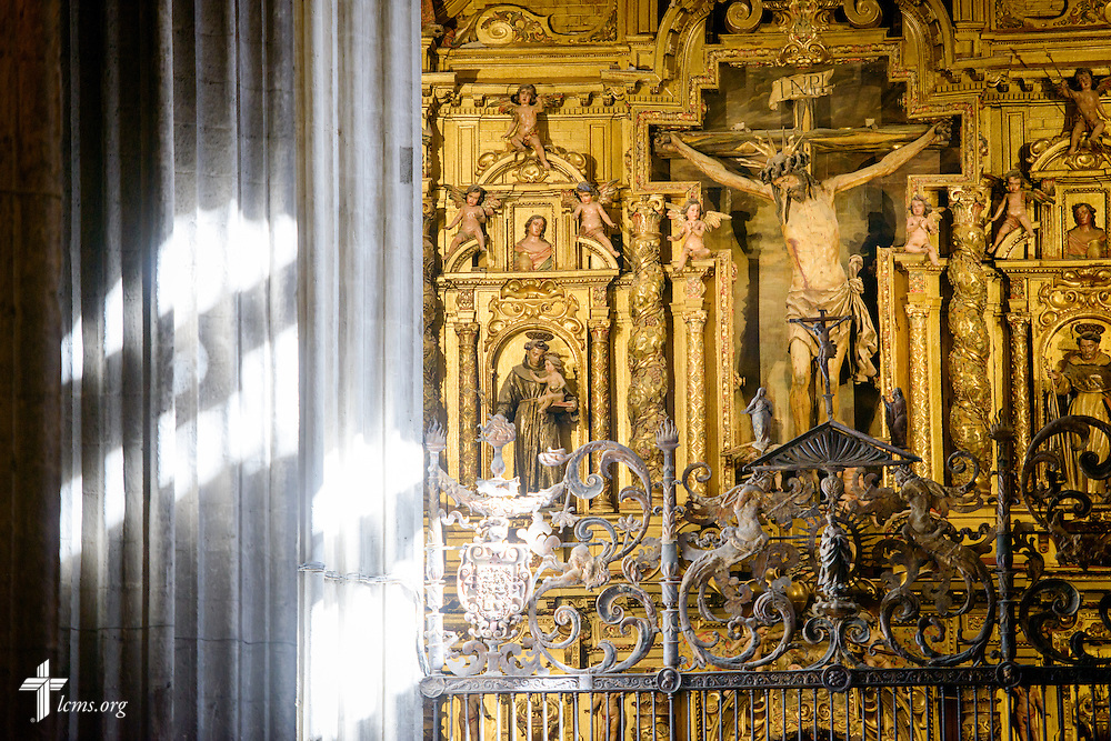 A crucifix in the Seville Cathedral on Monday, Nov. 7, 2016, in Seville, Spain.  LCMS Communications/Erik M. Lunsford