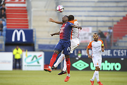 September 26, 2018 - Caen, France - Claudio Beauvue (Caen) vs Daniel Congre  (Credit Image: © Panoramic via ZUMA Press)