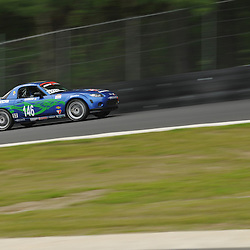 May 23, 2009; Lakeville, CT, USA; The Freedom Autosport Mazda MX-5 of Andrew Carbonell and Rhett O'Doski races in Grand-Am Koni Sports Car Challenge series competition during the Memorial Day Road Racing Classic weekend at Lime Rock Park.