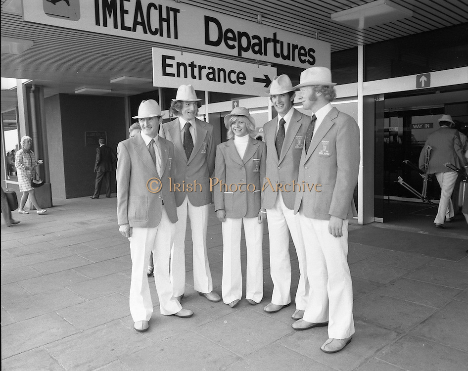 Olympic Team Leaves Dublin Airport.05/07/1976