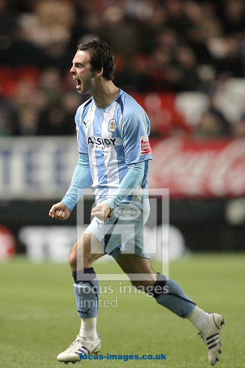London - Tuesday December 8th, 2008: Daniel Fox of Coventry City celebrates after scoring his side's second goal during the Coca Cola Championship match at The Valley, London. (Pic by Mark Chapman/Focus Images)