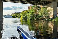 Liljeholmsbron vid  Hornstullsstrand i Stockholm.