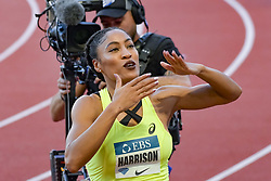 July 20, 2018 - Monaco, France - 100 metres haies feminin - Queen Harrisson  (Credit Image: © Panoramic via ZUMA Press)