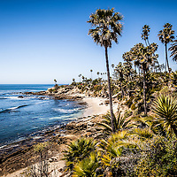 Picture of Orange County California in Laguna Beach along the Pacific Ocean. Photo is HDR style and high resolution.