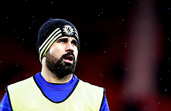 Diego Costa of Chelsea warms up in the rain - Mandatory by-line: Robbie Stephenson/JMP - 20/11/2016 - FOOTBALL - Riverside Stadium - Middlesbrough, England - Middlesbrough v Chelsea - Premier League