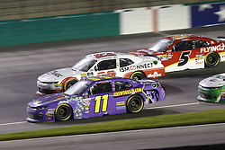 July 13, 2018 - Sparta, Kentucky, United States of America - Ryan Truex (11), Spencer Gallagher (23) and Michael Annett (5) battle for position during the Alsco 300 at Kentucky Speedway in Sparta, Kentucky. (Credit Image: © Chris Owens Asp Inc/ASP via ZUMA Wire)