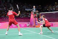 Fischer and Pedersen, Denmark, Win Bronze Medal, Mixed Doubles, Olympic Badminton London Wembley 2012
