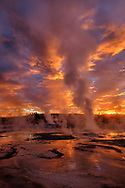 North America; American; USA; Rocky Mountains; West; Yellowstone  National Park; UNESCO; World Heritage, Black Sand Basin