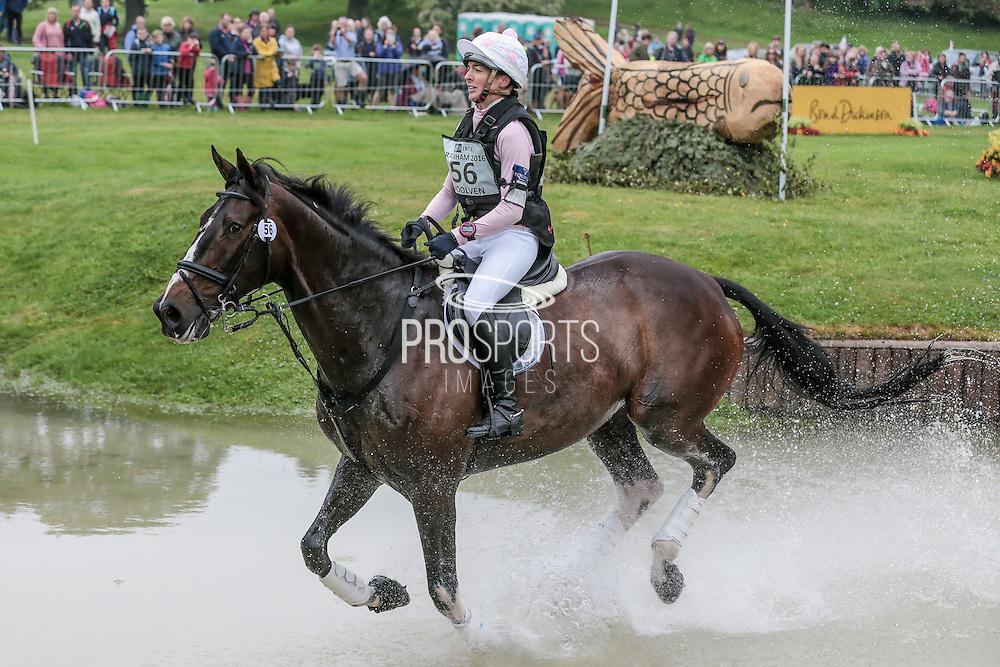 CHARLTON DOWN RIVERDANCE ridden by Becky Woolven at Bramham International Horse Trials 2016 at  at Bramham Park, Bramham, United Kingdom on 11 June 2016. Photo by Mark P Doherty.