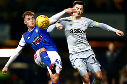James Bree of Ipswich Town Tom Lawrence of Derby County battles for possession - Mandatory by-line: Phil Chaplin/JMP - 13/02/2019 - FOOTBALL - Portman Road - Ipswich, England - Ipswich Town v Derby County - Sky Bet Championship