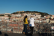 Portugal. Lisbon.  Baixa district  view from santa Justa lift  / le quartier de Baixa vu d'en haut