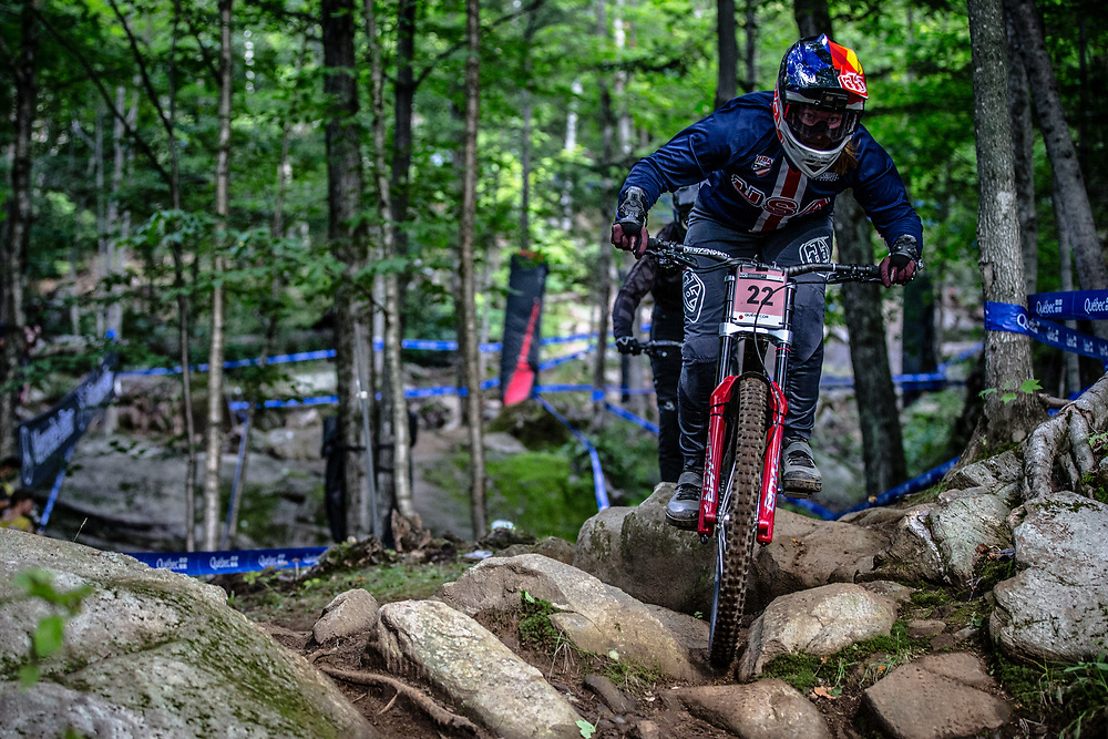 WASHAM Caroline (USA) at the Mountain Bike World Championships in Mont-Sainte-Anne, Canada.