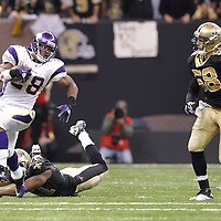 NEW ORLEANS, LA- January 24: Minnesota Vikings vs the New Orleans Saints at the SuperDome in New Orleans, La. on Sunday, January 24, 2010. (Photo by Minnesota Vikings-Amos/Smith)