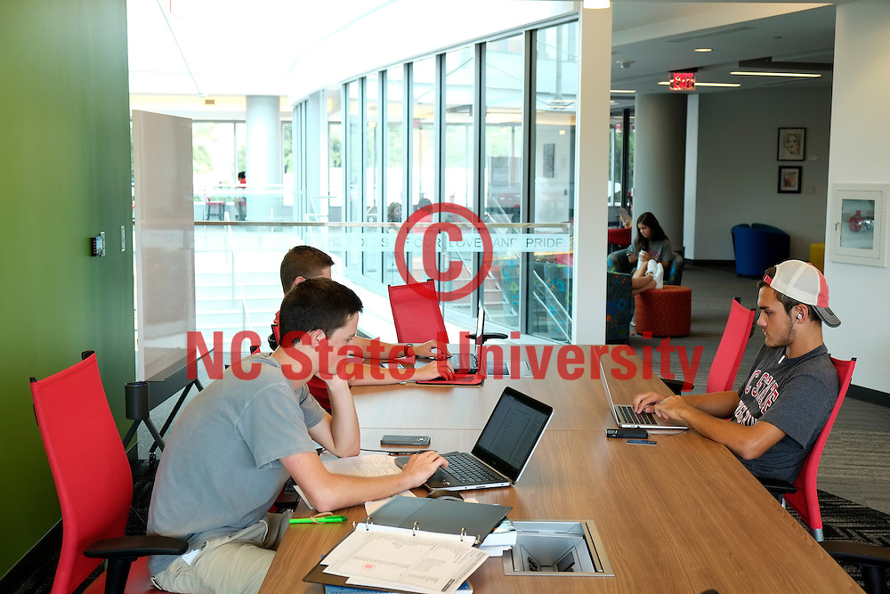 Students study at the Talley Student Union. Photo by Marc Hall