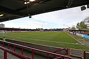 Kingsmeadow Stadium during the Sky Bet League 2 match between AFC Wimbledon and Portsmouth at the Cherry Red Records Stadium, Kingston, England on 26 April 2016.