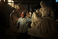 Marble worker in Massa Carrara