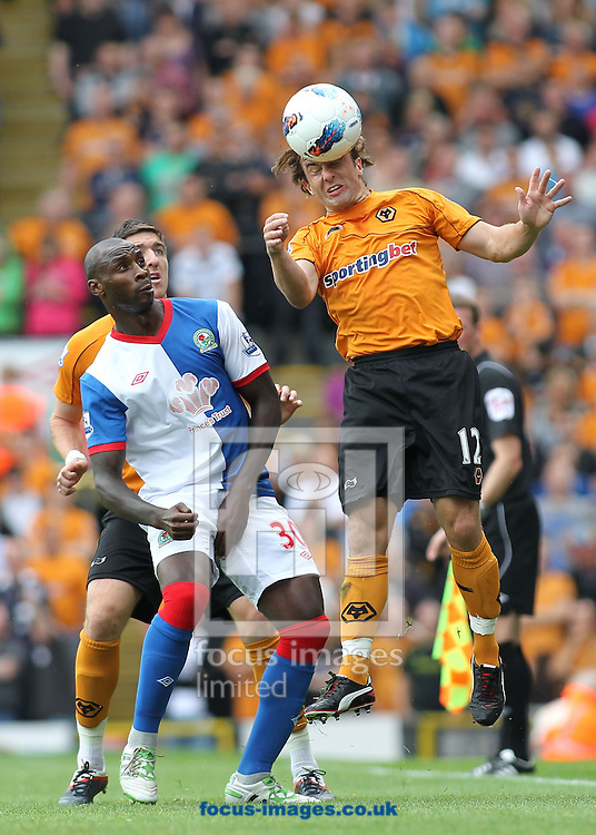 Picture by MIchael Sedgwick/Focus Images Ltd. 07900 363072.13/8/11.Jason Roberts of Blackburn Rovers and Stephen Hunt of Wolves in action during the Barclays Premier League match at Ewood Park stadium, Blackburn, Lancashire.