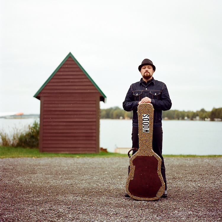 ANCHORAGE, ALASKA - 2011:  Singer songwriter Jared Woods in Anchorage, Alaska.