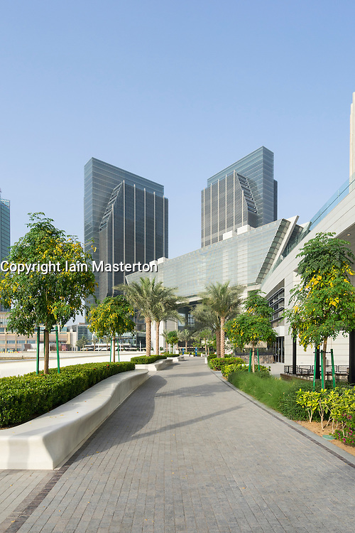 The new Abu Dhabi Global Market (ADGM) financial district  (formerly Sowwah Square) on Al Maryah Island in Abu Dhabi United Arab Emirates