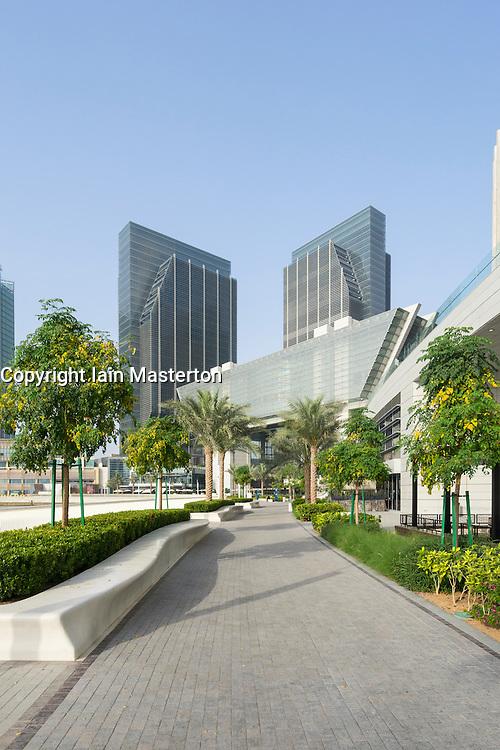 The new Abu Dhabi Global Market (ADGM) financial district  (formerly Sowwah Square) on Al Maryah Island in Abu Dhabi United Arab Emirates