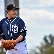 Padres newly acquired  pitcher Kazuhisa Makita #53 during the morning bullpen workouts at Padres Spring Training in Peoria Arizona February 23, 2018 Andres Acosta / El Paso Herald-Post