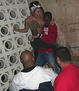 **EXCLUSIVE**.Wyclef Jean is Spiderclef climbing the walls. PM Lounge .Meat Packing District .New York City, NY, USA .Wednsday, May, 22, 2007.Photo By Celebrityvibe.To license this image call (212) 410 5354 or;.Email: celebrityvibe@gmail.com; .