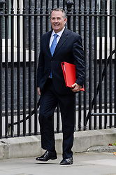 © Licensed to London News Pictures. 21/09/2017. London, UK. International Trade Secretary LIAM FOX arrives for a cabinet meeting in Downing Street. Photo credit: Ray Tang/LNP