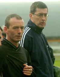 Kevin Cusack and Padraig Burns, managers of Westport Utd.