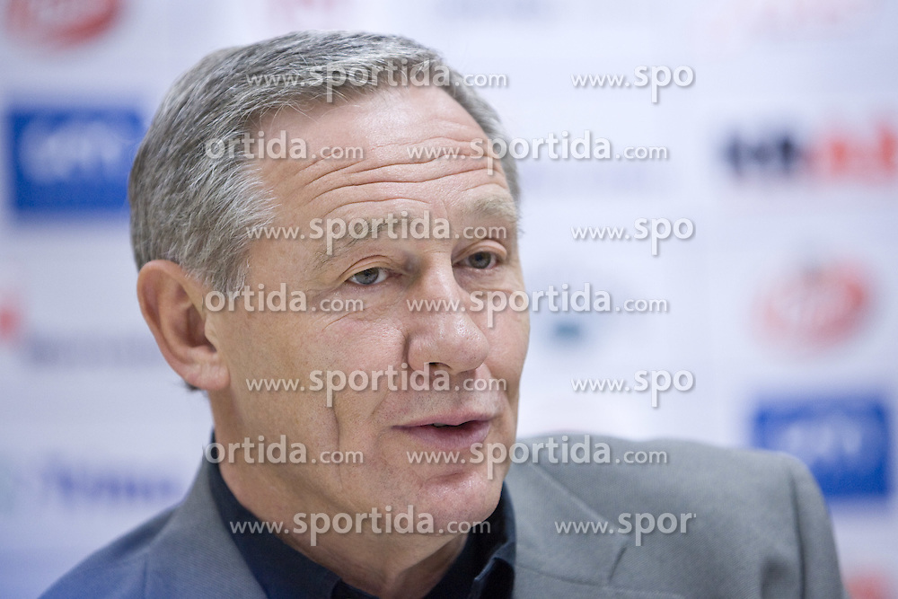 Head coach Zvonimir Noka Serdarusic at press conference of Slovenian men National Handball Team, on October 2, 2009, RZS, Ljubljana, Slovenija. (Photo by Vid Ponikvar / Sportida)