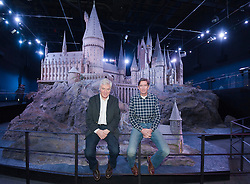 Production designer Stuart Craig (left) and model maker Jose Granell (right) with the model of Hogwarts Castle   which was revealed for the first time , Thursday, March 1st , as part of the Warner Bros Studio tour - The Making of Harry Potter in Leavesden, Hertfordshire.  Photo by: Andrew Parsons  / i-Images
