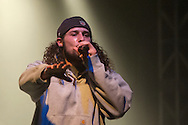 Freedom Renegades' Emcee Monkey D (Kris Cook) performs at Spirit of Hip Hop on December 2, 2016 at the Knitting Factory in Boise, Idaho. This benefit show, presented by Earthlings Entertainment, utilized their hip hop roots to raise funds for Hays House and Idaho Food Bank.<br /> <br /> Performers included Freedom Renegades, Illest*Lyricists, Exit Prose, CoreVette Dance Crew, Dirtydice, Dedicated Servers, Earthlings Entertainment, DJ Manek and Auzomatik.