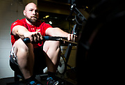 Chris Zizek, a member of Team Canada for the upcoming Invictus Games in the Netherlands. He posed for a photo at Strathcona Gardens Recreation Centre in Campbell River, B.C. on Nov. 19, 2019. Photo by Marissa Tiel/Campbell River Mirror