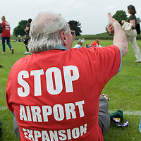 Sipson, England May 31st Thousands of protesters gathered for a huge demonstration against the expansion of Heathrow Airport. Demonstrators walked from Hatton Cross to Sipson, the village that will be lost if plans for a third runway at the London airport go ahead.