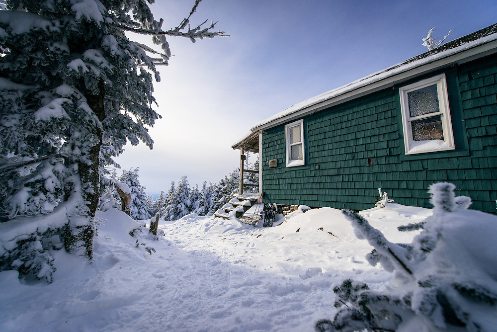 Cabot Cabin in Winter in the White Mountains, NH