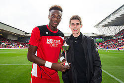 Ahead of kick off Tammy Abraham of Bristol City is presented with the PFA Fans Player of the Month Award for August and September - Rogan Thomson/JMP - 22/10/2016 - FOOTBALL - Ashton Gate Stadium - Bristol, England - Bristol City v Blackburn Rovers - Sky Bet EFL Championship.