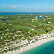 Aerial view of the Playa Mujeres Golf Course. Quintana Roo, Mexico.