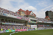 The crowd after winning the Ashes during the 3rd day of the Investec Ashes Test match between England and Australia at Trent Bridge, Nottingham, United Kingdom on 8 August 2015. Photo by Phil Duncan.