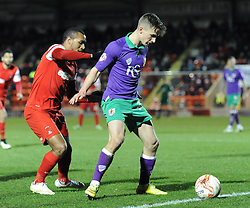 Bristol City's Joe Bryan holds the ball up from Leyton Orient's Jay Simpson - Photo mandatory by-line: Dougie Allward/JMP - Mobile: 07966 386802 - 03/03/2015 - SPORT - football - Leyton - Brisbane Road - Leyton Orient v Bristol City - Sky Bet League One
