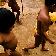 Kids of the village.  The Emberás are one of the seven indigenous groups still present in Panama.  They are usually find by the Chagres River in the Panama Canal protected areas as well as in the mountains and rivers of the Darien jungle