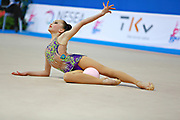 Ashirbayeva Sabina during qualifying at ball in Pesaro World Cup 10 April 2015.<br />