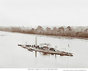 Civil War on the James River, Virginia. U.S.S. Casco, light-draft monitor.c1863-65.