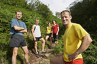 Group of hikers on walking track portrait