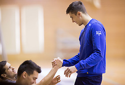 Gregor Ropret and Klemen Cebulj during training camp of Slovenian Volleyball Men Team 1 month before FIVB Volleyball World League tournament in Ljubljana, on May 5, 2016 in Arena Vitranc, Kranjska Gora, Slovenia. Photo by Vid Ponikvar / Sportida