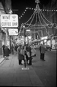 Christmas Decorations, Grafton Street, Dublin..09.12.1961