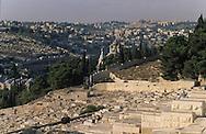 Jewish cemetery on oliveís mount    Israel     ///  cimetiere juif du mont des oliviers  Jerusalem  Israel   ///     L4142  /  R00290  /  P116306