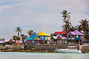 Colorful Compass Point Resort Love beach  in Nassau, Bahamas