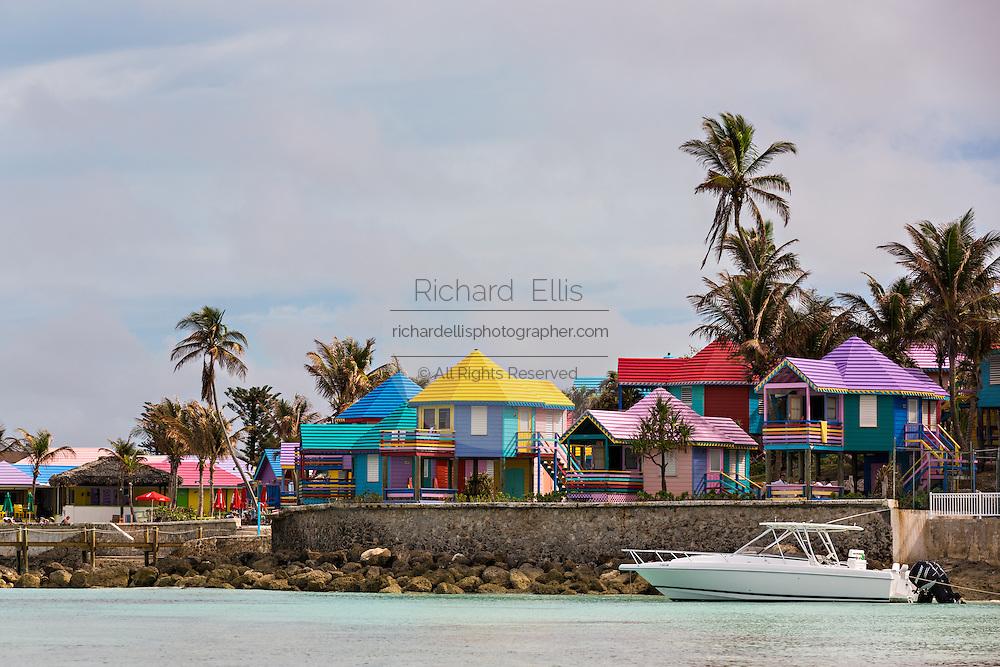 Colorful Compass Point Resort Love beach  in Nassau, Bahamas