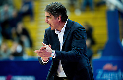 Damir Mulaomerovic, head coach of Cibona during basketball match between KK Cibona Zagreb (CRO) and KK Mornar (MNE) in Round #4 of FIBA Champions League 2016/17, on November 9, 2016 in Drazen Petrovic Basketball center, Zagreb, Croatia. Photo by Vid Ponikvar / Sportida